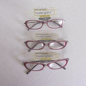Foster Grant Fashion Reading Glasses +1.00 3 pairs